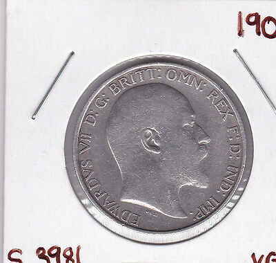 Great Britain Florin, Two Shillings, 1909. KM# 801, Spink 3981
