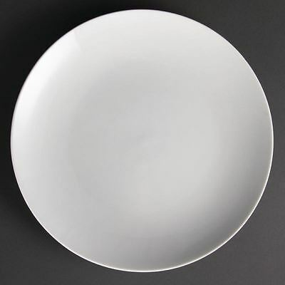 6X Olympia Whiteware Coupe Service Plates 310mm Porcelain Restaurant