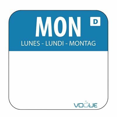 Vogue Dissolvable Monday Food Safety Day Labels - 20mm Pack of 1000