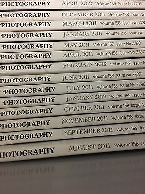 35 Issues of the British Journal of Photography Magazines (Jan 2011 to Dec 2013)