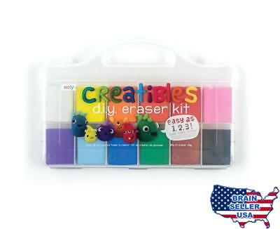 OOLY, Creatibles DIY Erasers, Set of 12 (161-001), New, Free Ship