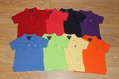 Brand New Authentic Ralph Lauren Baby Boys Polo Shirts Size 9M 12M 18M 24M