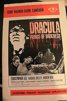 Hammer Films - Dracula Prince Of Darkness - Pressbook