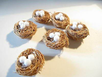 2 Dolls Miniature Nests With Eggs