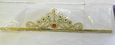Carnevale Rio Corona Principessa Oro Grande Big Golden Princess Crown  Art 4038