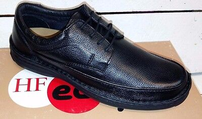 Men's Heavenly Feet Kirkby Black Leather Lace Up Shoes