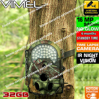 Home Security Video Camera Trail 32GB Outdoor Motion Activated Anti Theft Vandal