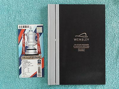2012 - FA CUP FINAL HARDBACK PROGRAMME + MATCH TICKET - CHELSEA v LIVERPOOL
