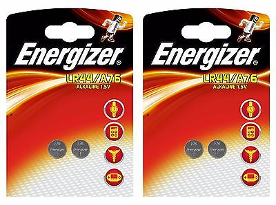 4 X Energizer LR44 / A76 1.5v Alkaline Coin Batteries, Watches Calculator Toys