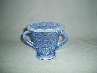 Imperial Laced Edge Katy Blue Opalescent Sugar Bowl Free U.S. Shipping