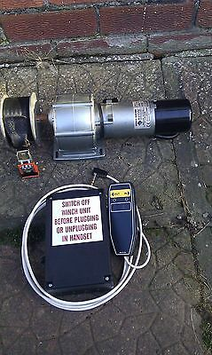 Bushey Hall 12v winch for wheelchair, scooter boat etc with remote control