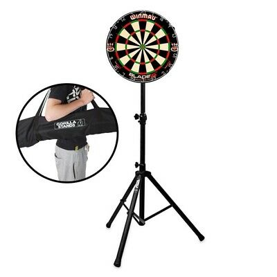 Winmau Blade 5 Dual Core Dartboard with Gorilla Arrow Pro Portable Stand