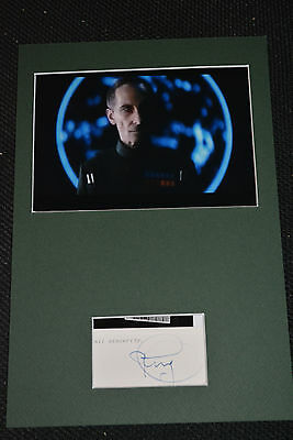PETER CUSHING signed Autogramm  In Person Passepartout / FRAMED STAR WARS