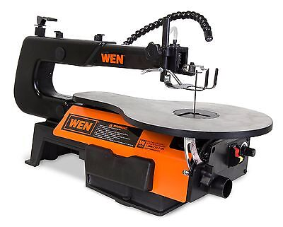 WEN 3920 16-Inch Two-Direction Variable Speed Scroll Saw with Flexible LED Li...