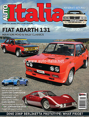 Auto Italia Magazine issue 251 ABARTH 131 Maserati Biturbo Ferrari 488 FreeUKP&P