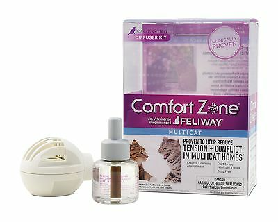 Comfort Zone Feliway Multicat Diffuser and Refill Diffuser with Single Refill