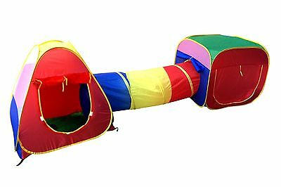 Cubby-Tube-Teepee 3pc Pop-up Play Tent Children Tunnel Kids Adventure Station...