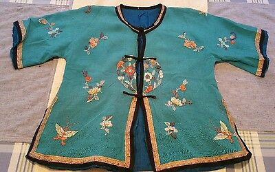 Vintage Late 1800's Chinese Silk Embroidrered Shirt- Beautiful!