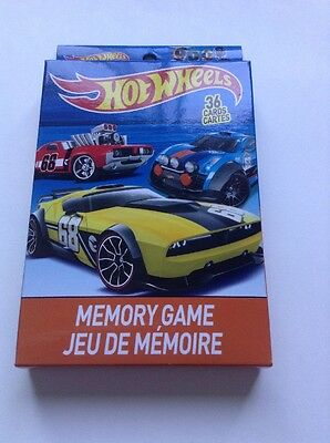 Hot Wheels Memory Card Game Contains 36 Oversize Cards NEW