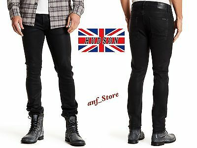 aesthetic appearance new items 2020 NWT HUDSON SARTOR Slouchy Skinny Fit Men Stretch Jeans 36 x 32 BLACK $220  USA