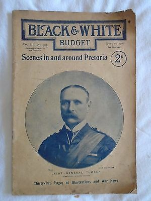 June 16 1900 BLACK & WHITE BUDGET 32 pages Of Illustrations & War News