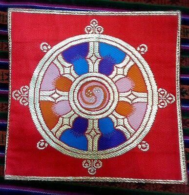 Tibetan wheel of life small altar thilden / coasters/ placemats /table cover