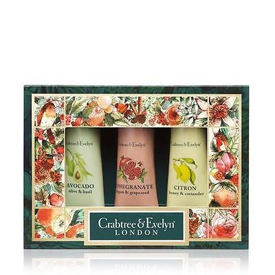 Crabtree & Evelyn Botanicals 3 x 25g Hand Therapy Gift Pack FREE P&P