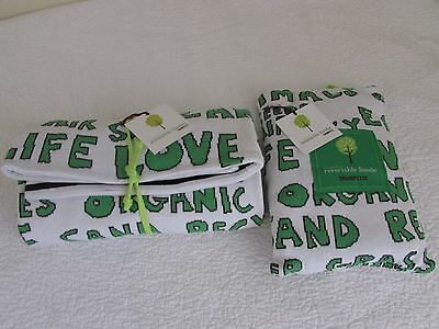 TRUMPETTE 100% Organic Cotton Blanket + Hoodie Baby Infant Unisex Girl Boy LOT