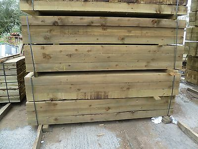 SPECIAL OFFER New Softwood Tanalised Railway Sleepers 100mm x 200mm x 2.4m