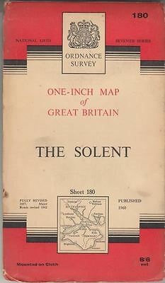 One-Inch Map Map of Great Britain The Solent Sheet 180 : Ordnance Survey