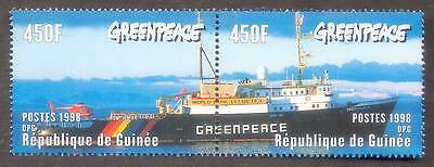 (068) GUINEA 1998 Ship Helicopter Antarctica 900F MNH Yvert 1209-10