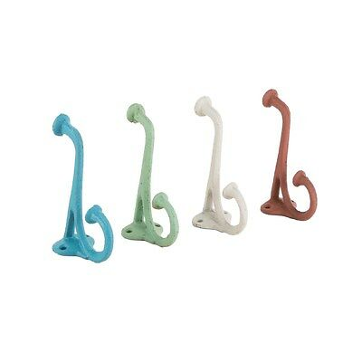 Vintage Style Esme Rustic Simple Long Coat Hook - Available 4 Great Colours