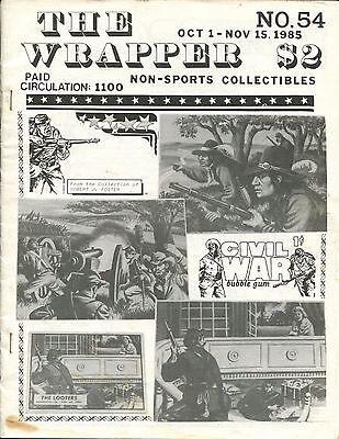 THE WRAPPER - No.54 - NON-SPORTS CARDS COLLECTIBLES - CIVIL WAR HEROES - 1985