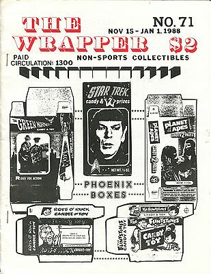 THE WRAPPER No 71 NON-SPORTS CARDS COLLECTIBLES, PHOENIX BOXES, GET SMART,  1988