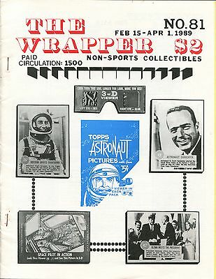 THE WRAPPER No.81 NON-SPORTS CARDS COLLECTIBLES, ASTRONAUT CARDS, WEIRD-OHS 1989
