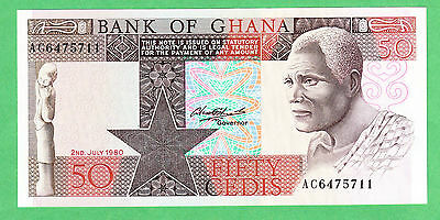 Ghana 50 Cedis Note P-22b  UNCIRCULATED