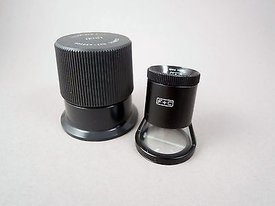 Stand loupe magnifier by Swiss Flubacher+Co 8x, inch .005″ + 0.1mm combi scale