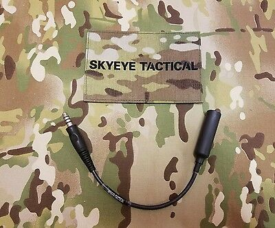 SKY-EYE Tactical Custom Peltor Wiring to NATO Wiring Adaptor . Comtac XP , XPI
