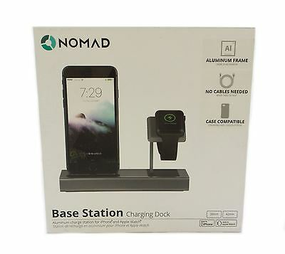 Nomad Base Station Charging Dock for iPhone and Apple Watch BAMP-CAMP-01