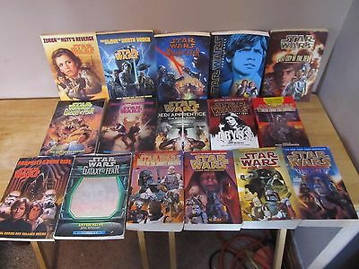 Star Wars Paperback Book Lot of 16~Bounty Hunters, Galaxy of Fear, more~VG Cond