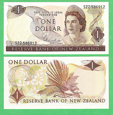 New Zealand 1 Dollar Note P-163d  UNCIRCULATED