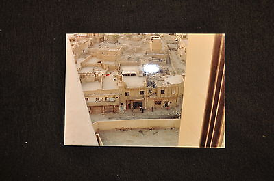 EARLY OPERATION IRAQI FREEDOM 1st ARMORED DIVISION PHOTO - DAMAGED BUILDINGS