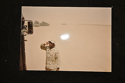 EARLY OPERATION IRAQI FREEDOM 1st ARMORED DIVISION PHOTO - COMPANY COMMANDER
