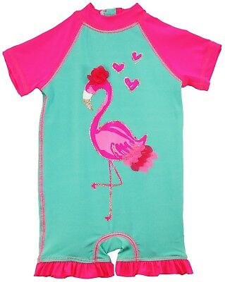 Wippette Baby Girls Flamingo Swimsuit 1-Piece Rashguard Bathing Suit