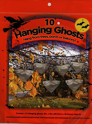 NEW Halloween 10 Hanging Ghosts! Hang from trees/porch/balcony!