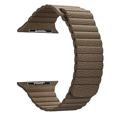 Apple Watch Band - FanTEK Soft Leather Loop Magnet Lock Replacement iWatch Strap