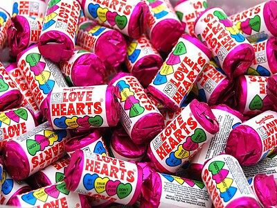 100 Mini Love Hearts Perfect For Wedding Favours/party bags
