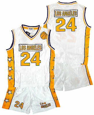 Boys Shorts Vest LOS ANGELES Outfit LA Basketball Sport Top Set 3-14 Years