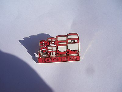 Year of the bus Pin badge