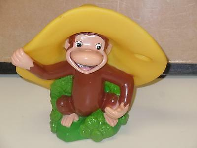 "HTF 7"" Rubber Curious George Monkee Toy Figure Toothbrush Holder Kids Universal"